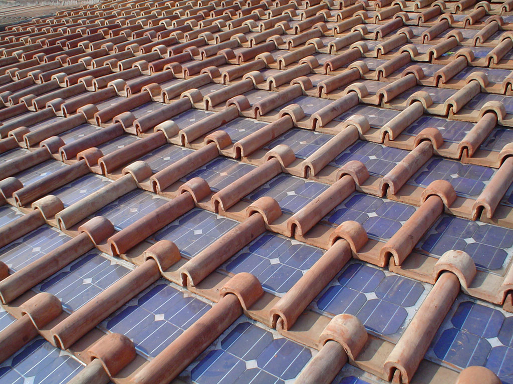 Photovoltaic Tile Panorama And Eco Sutainability